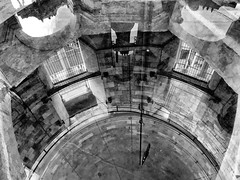 Reflection-  Looking Down Into the Bell Tower- Pisa (Eggii) Tags: pisa italy tower tuscany theleaningtower reflection glass