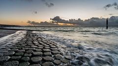 Sunset at Brouwersdam (Rob Schop) Tags: wideangle zonsondergang sunset sonya6000 water noordzee outdoor weather sea waves sun ouddorp beach landscape nederland strand motion wolken samyang12mmf20 pola hoyaprofilters a6000 clouds f8 brouwersdam