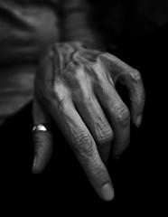 My Left Hand (.Betina.) Tags: betinalaplante monochrome mono mood woman dark hand self blackandwhite fineart portrait portraiture