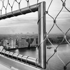 Amsterdam , Top of The Tower (ahwou) Tags: heinekenbuilding amsterdamthetower thetower sightseeing hetij blackwhite zwartwit monocromatico buildings paleis van justitie