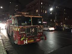 FDNY Engine 14 (Triborough) Tags: ny nyc newyork newyorkcity newyorkcounty manhattan greenwichvillage eastvillage fdny newyorkcityfiredepartment firetruck fireengine engine engine14 seagrave
