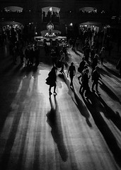 (janetbland) Tags: grandcentral shadow newyork unitedstates us blackandwhite afternoon iphone7