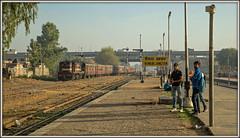 Rajasthan reminiscence (david.hayes77) Tags: 2016 ir indianrailways nwr india rajasthan ringasjunction reengus mg bg metregauge alco ydm4 6637 traino2088 semaphores passengers people humanity