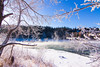 30 degrees below (Timothy Sargent) Tags: canon 7d tokina1116 cochrane alberta winter 30 snow river bowriver steam sun canada