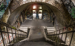 Fort La Chartreuse (‹ Wim ›) Tags: fortlachartreuse urbex stairs graffiti luik liege belgium fortress