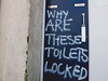 Locked (only lines) Tags: toilets locked closed graffiti message question margate westgate thanet kent