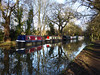 Moorings (Gilder Kate) Tags: weynavigation wey riverwey ripley pyrford surrey reflections reflection winter narrowboat narrowboats nationaltrust towpath panasoniclumixdmctz70 panasoniclumix panasonic lumix dmctz70 tz70