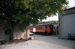South Shore Michigan City yards 9-24-83 4 (jsmatlak) Tags: chicago south shore bend indiana csssb railroad electric interurban railway train nictd