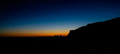 Sunset in Vik (mikeriddle1984) Tags: iceland vik sunset sun dark winter arctic cold freeze freezing snow black colour fuji travel icelandic rocks cliff cliffs sky night dusk blue orange xt1 fujifilm goecco