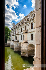 View from inside of Chateau de Chenonceau, France (Fotografiecor.nl) Tags: ancient arch bridge clouds europe loire mirror nobility ornate renaissance tower architecture building castle centre chateaux chenonceau chenonceaux cher cloudy culture elegant facade france french garden gothic grand heritage historic historical history iconic king loir louis majestic marble overcast palace place queen river royal summer unesco francueil centrevaldeloire frankrijk fr