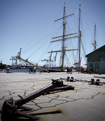 Leeuwin (andrewcorby) Tags: ship sail leeuwin training anchor fremantle port dock