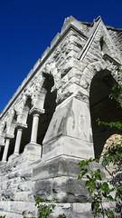 (AmyEAnderson) Tags: outdoor st marys chapel knoxville knox county illinois building architecture structure abandoned historic stone arches corner angles gray blue columns
