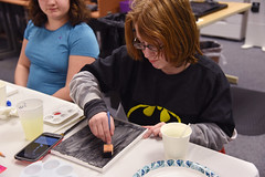 Teen Lock In; Pizza and Paintbrushes, MV 1.26.18 (slcl events) Tags: teens teen teenprogram slcl slclorg stlouiscountylibrary meramecvalleybranch meramecvalley art painting canvaspainting teenlockin pizzaandpaintbrushes library libraryprogram