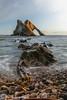 Bow fiddle rock (rjonsen) Tags: portrait moray coast scotland alba sea beach beautifull motion blur rock formation