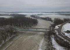 Muskingum River (player_pleasure) Tags: muskingum river bridge water winter ice iceformations ohio ohiofoothills mavicpro drone ariel dresden