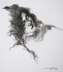 P1017694 (Gasheh) Tags: art painting drawing sketch portrait girl line pen charcoal gasheh 2018