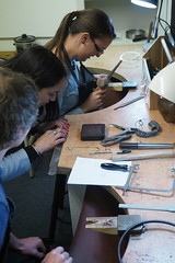 Wedding Ring Workshop (sophieericaclark) Tags: wedding rings school nottingham workshop bench peg workbench jeweller enameling tools handmade notts nottm nottinghamshire diy do it yourself jewellery