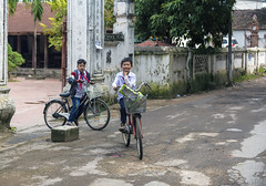 Two boys on bicycles (lgflickr1) Tags: children boys vietnam vietnamese northvietnam bicycles recreation happy