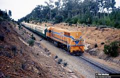 3132 DA1573 Jarrahdale Branch 4 July 1982 (RailWA) Tags: railwa philmelling westrail 1982 da1573 jarrahdale branch