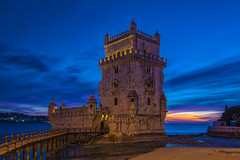 The Belem Tower at Blue Hour Aurora HDR (JRE313) Tags: lisbon portugal europe blue hour color spanish photo photos pic pics picture photographer pictures snapshot art beautiful instagood day all shots exposure composition focus capture moment photoshoot daily photogram urban photography architecture throwback like4follow adventure like4like streetlife landscape history heritage hdr range dusk night city clouds