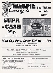 Notts County vs Middlesbrough - 1984 - Page 12 (The Sky Strikers) Tags: notts county middlesbrough fa cup road to wembley magpie official matchday magazine 40p meadow lane