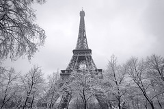 (Laetitia.p_lyon) Tags: fujifilmxt10 paris toureiffel eiffeltower noiretblanc nb blackandwhite bw bnw monochrome monochromatic neige snow winter hiver