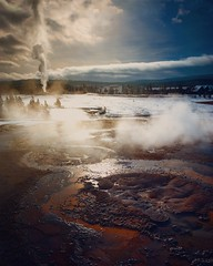 Other Worlds II (AirHaake) Tags: yellowstone yellowstonenationalpark nationalpark winter winterscene winterscape geyser oldfaithful drama dramaticsky mood atmosphere