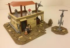 Star Wars: Building Mos Eisley. (Brick Cartel) Tags: star wars mos eisley lego