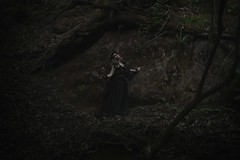 "TEATRONATURA ""The forest's metamorphosis"" (valeriafoglia) Tags: fantasy forest dark dakness dryad dress beautiful beauty blonde black nature colors art atmosphere creature capture composition creative magic wood photography photo"