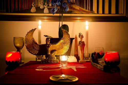 Isis and Osiris Temporary Altar