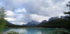 Waterfowl Lakes (Patricia Henschen) Tags: waterfowllakes alberta canada canadian banff banffnationalpark clouds cloudy boreal forest nationalpark lake icefieldsparkway park parks parkscanada parcs mountain mountains rockies northern snow glacier