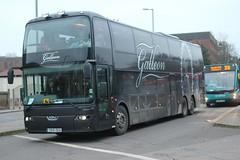 Galleon Travel . Roydon , Essex . YK15OKA . Bishop's Stortford Bus Interchange , Hertfordshire . Saturday 13th-January-2018 . (AndrewHA's) Tags: bishopsstortford hertfordshire coach bus galleon travel roydon essex vdl sbr 4000 berkhof synergy yk15oka