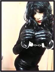 livingleatherdoll (living-doll-AU) Tags: livingdoll cuffed masker latex goth bondage sexy