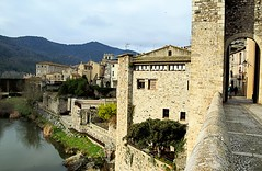 Besalu, old city........... (atsjebosma) Tags: wall muur gate poort besalu oldcity toren mountains bergen atsjebosma spain coth5