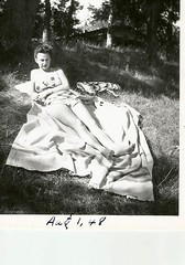 surly bather- 1948 (912greens) Tags: women bathers swimsuits swimwear 1940s folksidontknow surly serious sunny sunbathers attitude annoyed