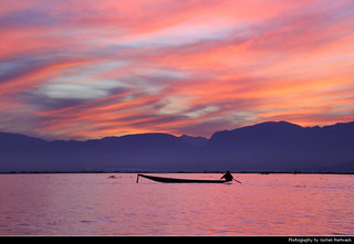 Sunset at Inle Lake, Myanmar