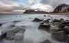 Uttakleiv Beach (NCExplore) Tags: norway uttakleiv beach lofoten 68north sea rocks mountains cold winter long exposure 10stopper sky water wild canon 6d fun