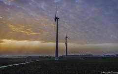 Avec un ciel si bas (musette thierry) Tags: vert ciel musette thierry d800 nikon belgique europe reflex nuit composition couleur photographie picture éolienne 28300mm landscape