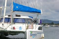 Serenity (Gillian Everett) Tags: yacht catamaran serenity noosariver queensland 7daysofshooting week29 serene geometrysunday 118 2018 4
