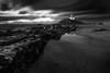 B&W0144 (pixFINEART) Tags: sea seascape blackwhite sky clouds sand beach portugal senhor da pedra arcozelo porto gaia rocks water