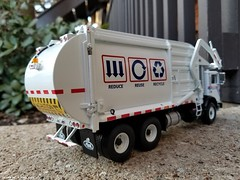 First Gear Garbage Truck (Inner Blue Fire) Tags: mackmr firstgear usahauling recycle refuse garbagetruck diecastmodel