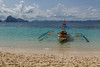 Boat in paradise (fredrik.gattan) Tags: boat paradise tropic beach landscape seascape sky clouds clear water mountains island islands green turquoise el nido palawan philippines