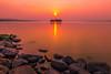 sunset 1480 (junjiaoyama) Tags: japan sunset sky light cloud weather landscape orange color lake island water nature winter calmness