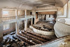 Soviet Theatre, Bulgaria (ObsidianUrbex) Tags: urbex urban exploration abandoned derelict decay europe bulgaria theatre soviet architecture hall auditorium theater