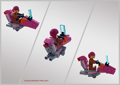 District 18 civilian hoverbike 'Pink lady' (Brixnspace) Tags: lego moc speeder hoverbike district18 district 18 civilian