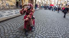 * (Timos L) Tags: man street artist joker candid portrait cofee break work life people prague czech republic olympus em5ii panasonic 714mm ulttrawide uwa timosl explore flickr explored