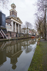 Sint Augustinuskerk (HansPermana) Tags: utrecht netherlands nederland niederlande eu europa europe gloomy autumn november 2017 city cityscape canal water sintaugustinuskerk church kirche architecture buildings