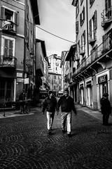 Loneliness In Brescia, Brescia, Italy (Davide Tarozzi) Tags: lonelinessinbrescia brescia italy loneliness streetphotography street via people persone biancoenero