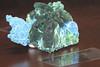 Malachite after Azurite, on Planchite (cobalt123) Tags: 2018 arizona canong10 february3 jpg tucson tucsongemandmineral virginia westwardlookresort age11 editedbybjb photobyvirginia malachite afterazurite planchite