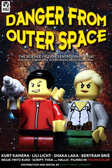 """""""Danger From Outer Space"""" (Movie poster) (y20frank) Tags: lego sciencefiction cinema kino movie 50ies space film tv minifigures poster"""